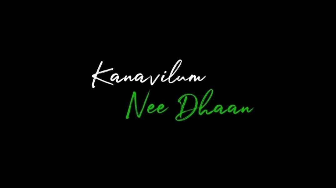 Kanavilum Neethaan Pulla | Tamil black screen lyrical WhatsApp Status Video | Music Status